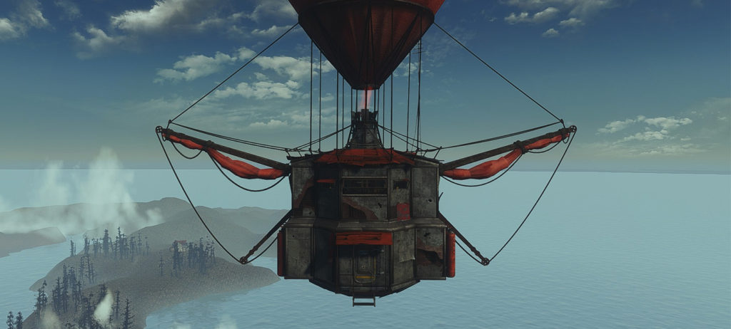 Игрок Fallout 4 создал в игре «летающий бункер»